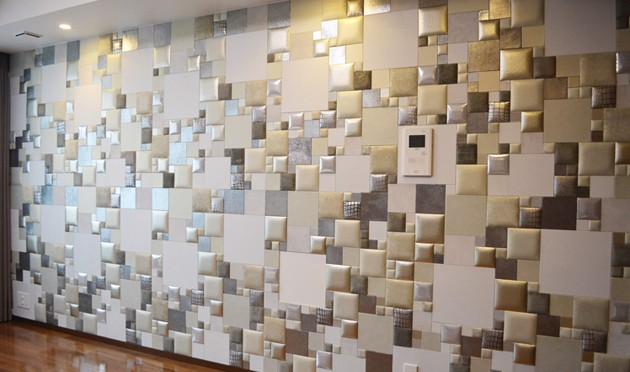studioart leather wall LUXURY silver