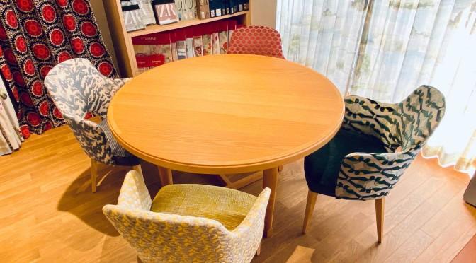 アノニモデザイン Anonimo Design showroom ショールーム 椅子張り生地で遊ぶ Zimmer Rohde Etamine Travers Hodsol Mckenzie Brochier